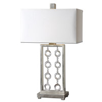 Uttermost Arlena Crystal Accent Table Lamp in Antiqued Silver Leaf 26287-1