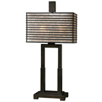 Uttermost Becton Modern Metal Table Lamp in Wood 26291-1 photo thumbnail