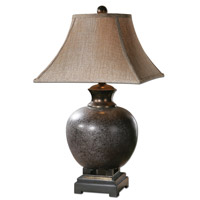 Uttermost Villaga Distressed Table Lamp in Distressed Black and Brown 26292