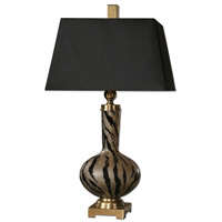 Uttermost Amur Modern Smoked Glass Lamp in Smoked Glass 26293