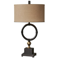 Uttermost Pueblo Black Circle Table Lamp in Black Circle 26296-1
