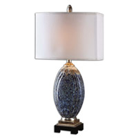 Uttermost 26298-1 Latah 31 inch 150 watt Mottled Blue Table Lamp Portable Light