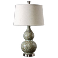 Uttermost 26299 Hatton 27 inch 100 watt Dimpled Ceramic Table Lamp Portable Light