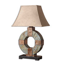 Uttermost 26307 Slate 29 inch 100 watt The Base Is Made Of Real Hand Carved Slate Table Lamp Portable Light