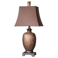 Amarion 33 inch 100 watt Lightly Distressed Bronze Leaf Table Lamp Portable Light