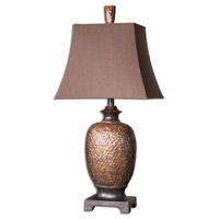 Uttermost 26314 Amarion 33 inch 100 watt Lightly Distressed Bronze Leaf Table Lamp Portable Light