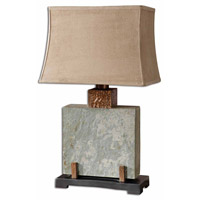 Uttermost Slate Square Table Table Lamp in The Base Is Made Of Real Hand Carved Slate 26321-1