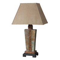 Slate 29 inch 100 watt The Base Is Made Of Real Hand Carved Slate Table Lamp Portable Light