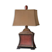 Pavia 33 inch 150 watt Aged Red Table Lamp Portable Light