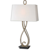 Uttermost 26341 Ferndale 33 inch 100 watt Antiqued Silver-Champagne Table Lamp Portable Light