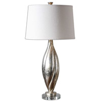Uttermost 26343 Palouse 31 inch 150 watt Silver-Champagne Leaf Table Lamp Portable Light