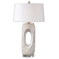 Uttermost Carbonado Table Lamp in Distressed Ivory 26344