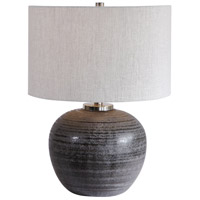 Uttermost 26349-1 Mikkel 22 inch 150 watt Charcoal Table Lamp Portable Light