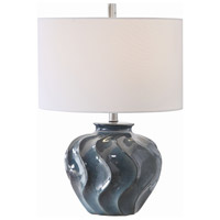 Uttermost 26355-1 Aquilina 24 inch 150 watt Aged Blue Table Lamp Portable Light