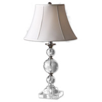 Uttermost Polished Nickel Crystal Table Lamps