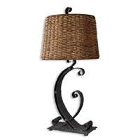 Uttermost Rendall Table Lamp in Rustic Black 26417