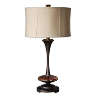 Uttermost 26426-1 Lahela 30 inch 150 watt Distressed Copper Bronze Table Lamp Portable Light