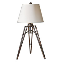 Tustin 34 inch 150 watt The Tripod Base Has An Oxidized Bronze Table Lamp Portable Light