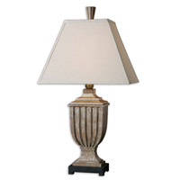 Uttermost SaViano 1 Light Lamps in Aged Pecan 26438