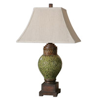 Uttermost Aliano 1 Light Table Lamp in Crackled Green 26447