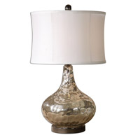 Uttermost 26453-1 Vizzini 25 inch 150 watt Crackled Polished Chrome Table Lamp Portable Light