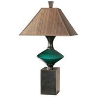 Uttermost Alzavola 1 Light Table Lamp in Dark Teal 26457