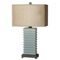 Uttermost Lupara 1 Light Table Lamp in Crackled Blue 26466-1