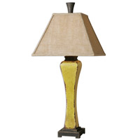 Uttermost Oratino 1 Light Table Lamp in Burnt Yellow 26476
