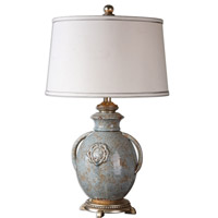 Uttermost Blue Glaze Metal Table Lamps