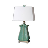 Uttermost Calciano 1 Light Table Lamp in Teal 26487
