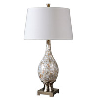 Uttermost 26491 Madre 33 inch 150 watt Mosaic Tile Table Lamp Portable Light