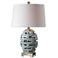 Uttermost Turkana 1 Light Table Lamp in Powder Blue 26492