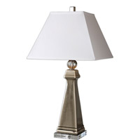 Uttermost Colobraro 1 Light Table Lamp in Gray Ceramic 26495