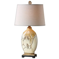 Uttermost 26498 Pajaro 33 inch 150 watt Aged Ivory Table Lamp Portable Light