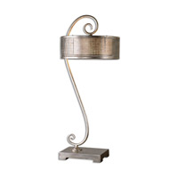 Uttermost Dalou Scroll 2 Light Table Lamp in Silver 26503