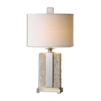 Uttermost 26508-1 Bonea 29 inch 100 watt Stone Ivory Table Lamp Portable Light
