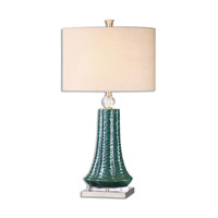 Gosaldo 32 inch 150 watt Textured Teal Ceramic Table Lamp Portable Light