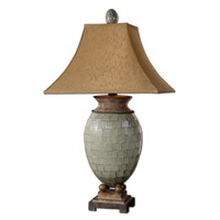 Uttermost Kayson Table Lamp in Pale Blue Green Mosaic Tiles 26516