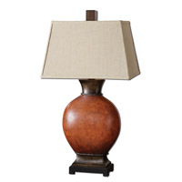 Uttermost 26517 Suri 35 inch 150 watt Burnished Dark Red Table Lamp Portable Light thumb
