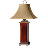 Uttermost Solano Table Lamp in Glossy Burnt Russet Glaze 26529