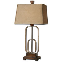 Uttermost Piomba 1 Light Table Lamp in Antiqued Silver Metal 26535 thumb