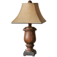 Uttermost Kezia 1 Light Table Lamp in Light Verdigris Glaze and Champagne Silver 26538