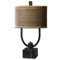 Stabina 30 inch 60 watt Rustic Bronze Table Lamp Portable Light