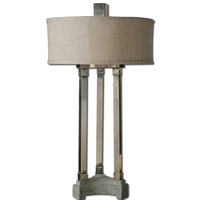 Uttermost Risto 2 Light Table Lamp in Brushed Aluminum 26542-1 thumb