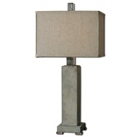 Uttermost 26543-1 Risto 33 inch 150 watt Brushed Aluminum Table Lamp Portable Light