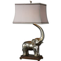 Uttermost Sumatran 2 Light Table Lamp in Antiqued Silver 26546 photo thumbnail