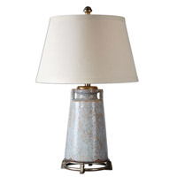 Uttermost Caminata 1 Light Table Lamp in Blue Glaze 26557