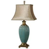 Uttermost Angelica 1 Light Table Lamp in Blue 26575