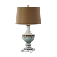 Uttermost 26600 Molara 32 inch 150 watt Aged Blue Table Lamp Portable Light