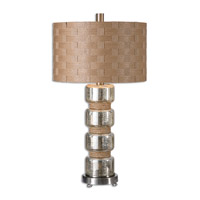 Uttermost Cerreto 1 Light Table Lamp in Plated Brushed Nickel 26604-1